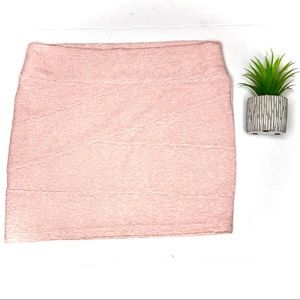 Charlotte Russe Blush Pink Textured Bandeau Skirt
